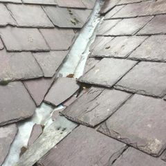 Roof slating that needs repairs